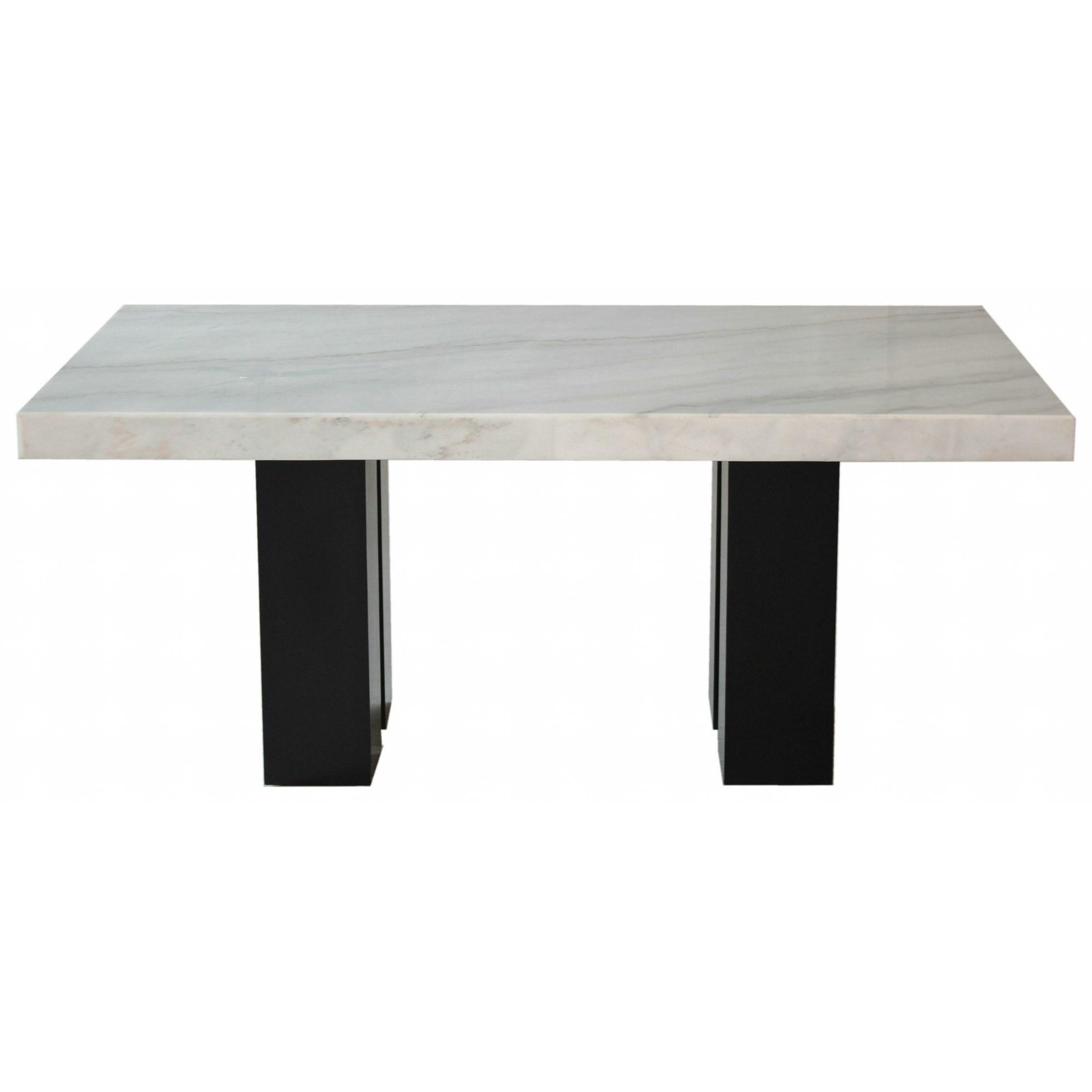 Rectangular White Marble Dining Table