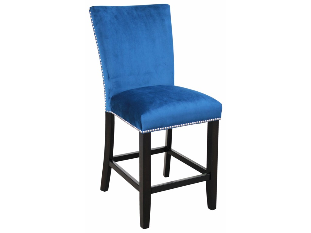 Steve Silver CamilaUpholstered Counter Chair with Nailhead