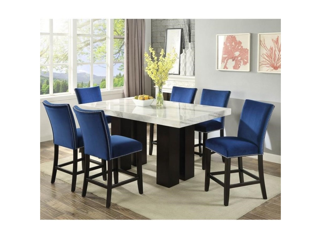 Camila 7 Piece Counter Height Dining Set