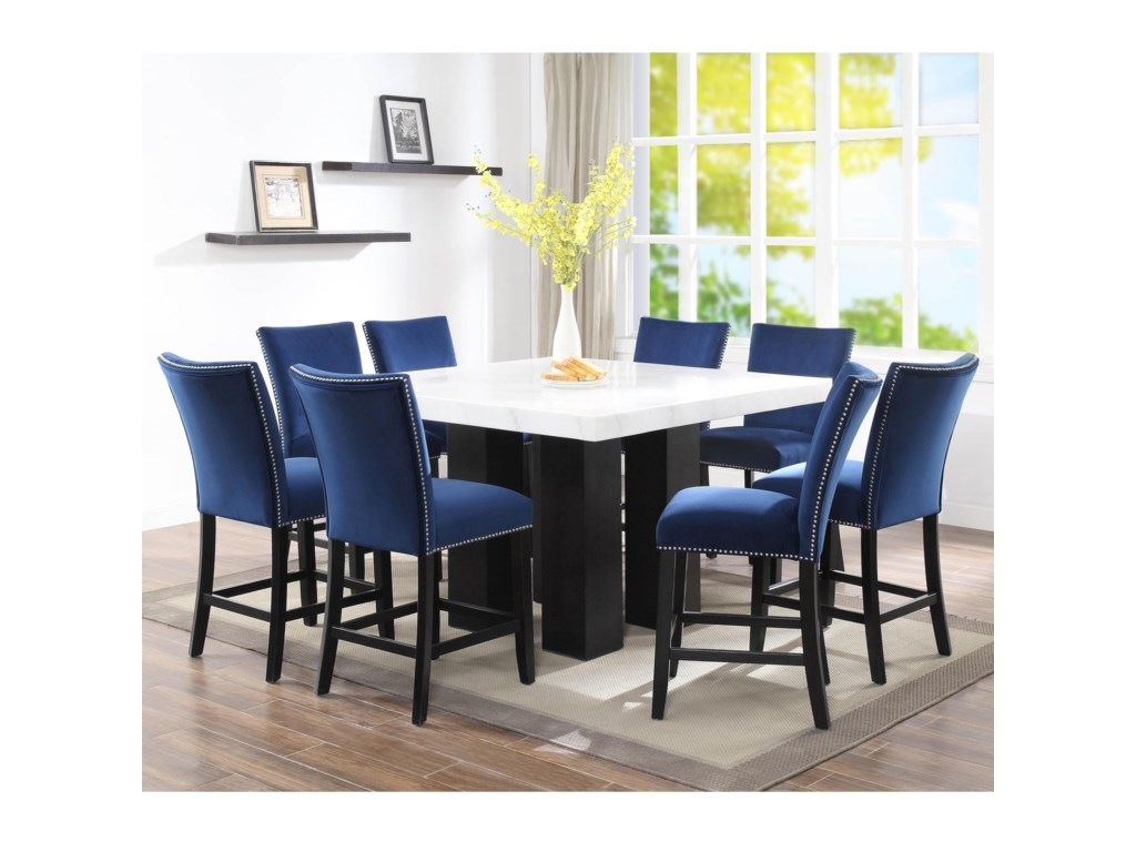 Camila 9 Piece Counter Height Dining Set