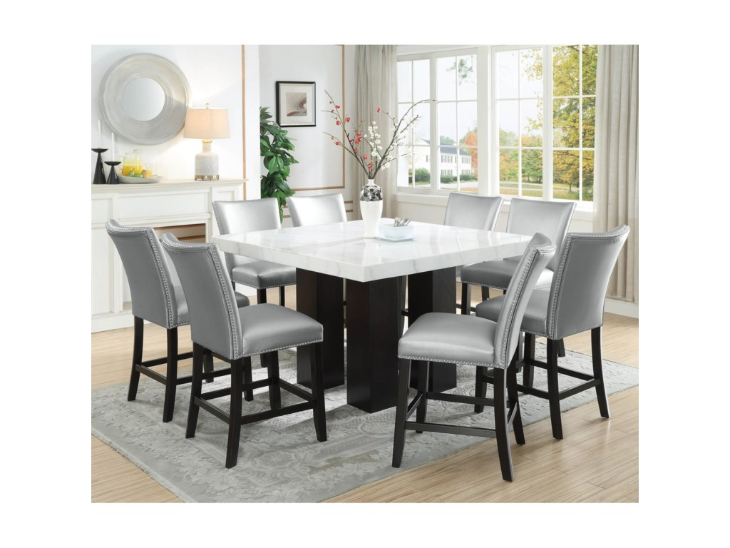 Vendor 3985 Camila9 Piece Counter Height Dining Set