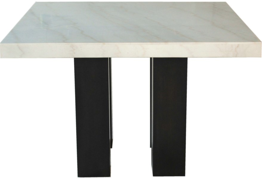 Steve Silver Camila Square White Marble Counter Height Table A1 Furniture Mattress Pub Tables