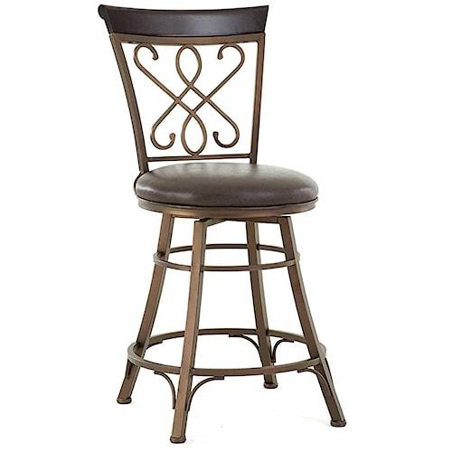 Steve Silver Carmona Swivel Counter Chair with Splat Design