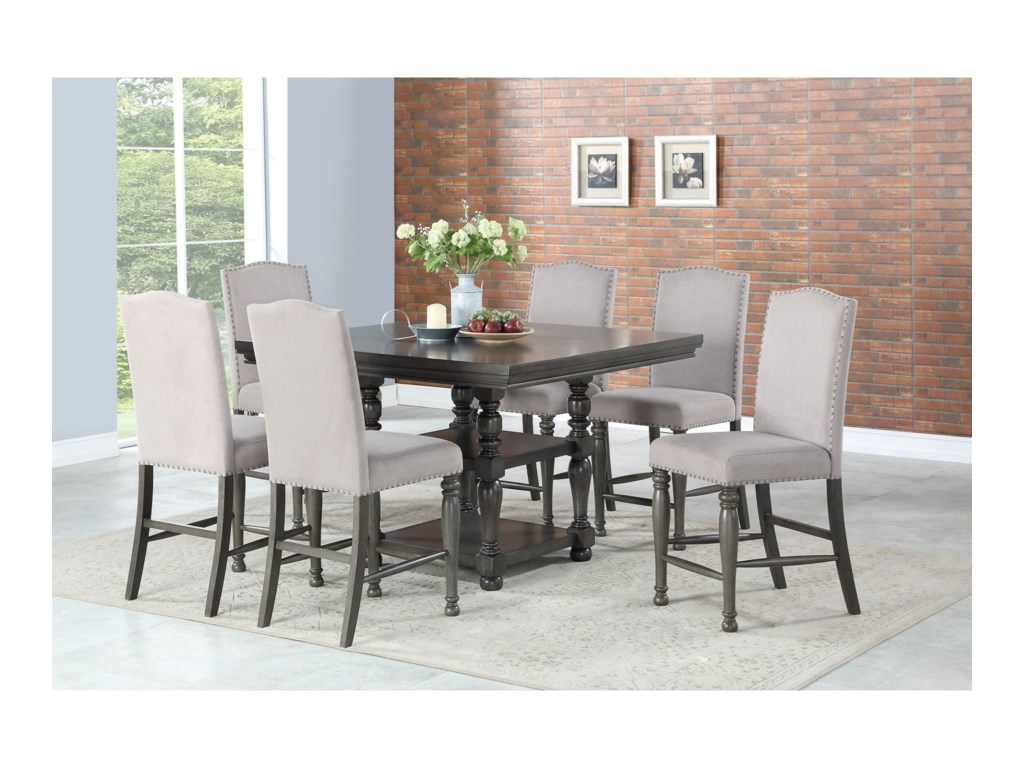 Steve Silver Caswell7 Pc Counter Dining Set