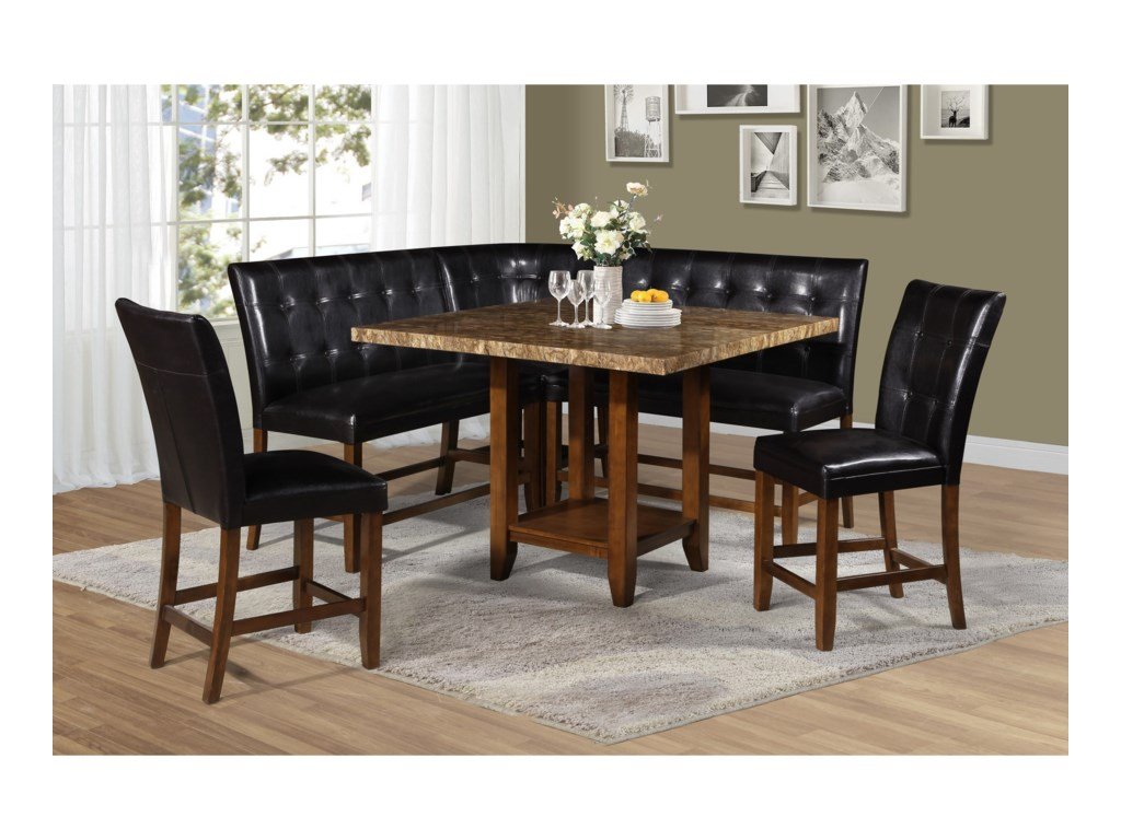 Steve Silver Cavett6 Piece Counter Table and Chair/Bench Set
