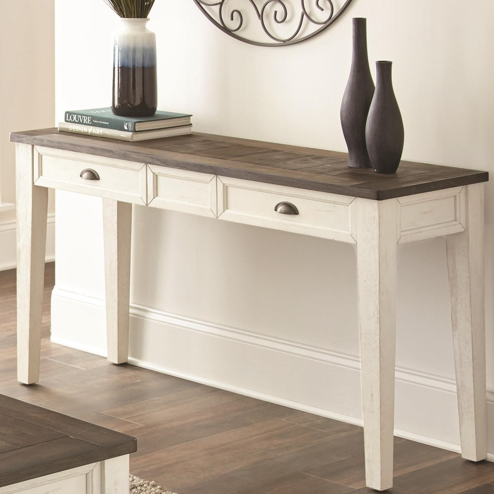 Star Cayla Farmhouse Sofa Table With Two Tone Finish