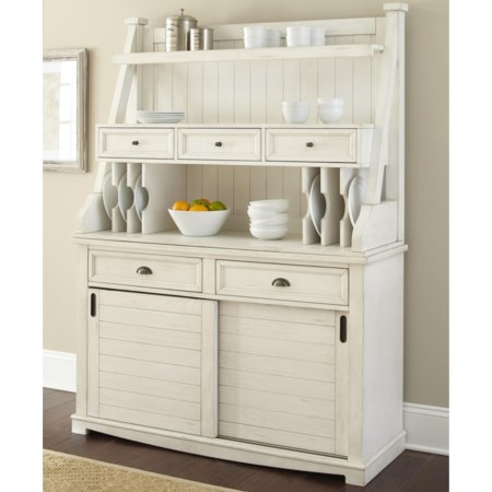 Buffet with Open Hutch