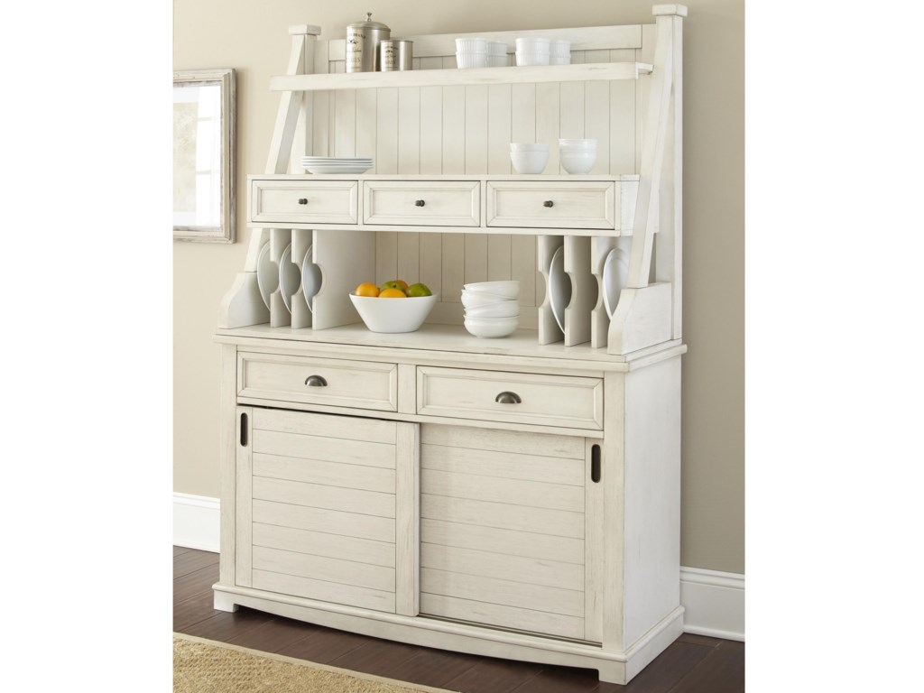 Steve Silver CaylaBuffet with Open Hutch