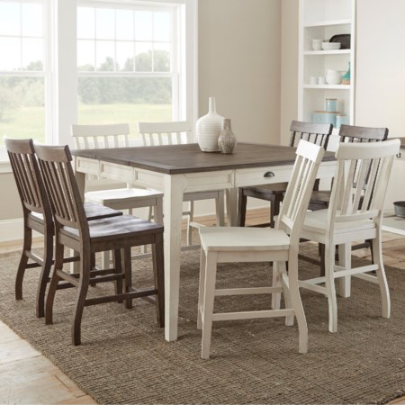 9 Piece Counter-Height Table and Chair Set
