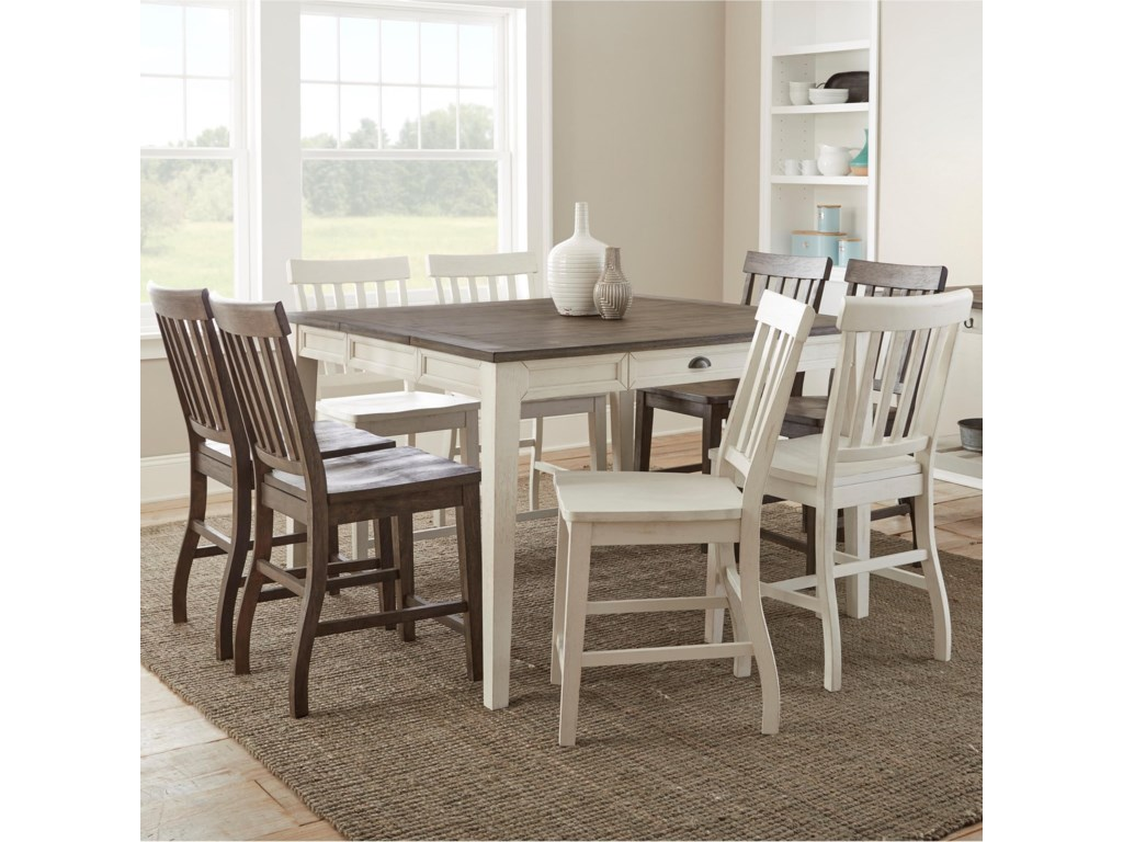 Steve Silver Cayla9 Piece Counter-Height Table and Chair Set