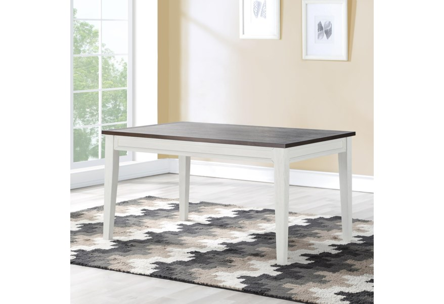 Steve Silver Caylie Cl550t Rustic Dining Table With Plank Wood Top Northeast Factory Direct Kitchen Tables
