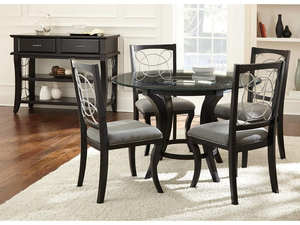 Steve Silver Cayman5 Piece Glass Top Dining Set