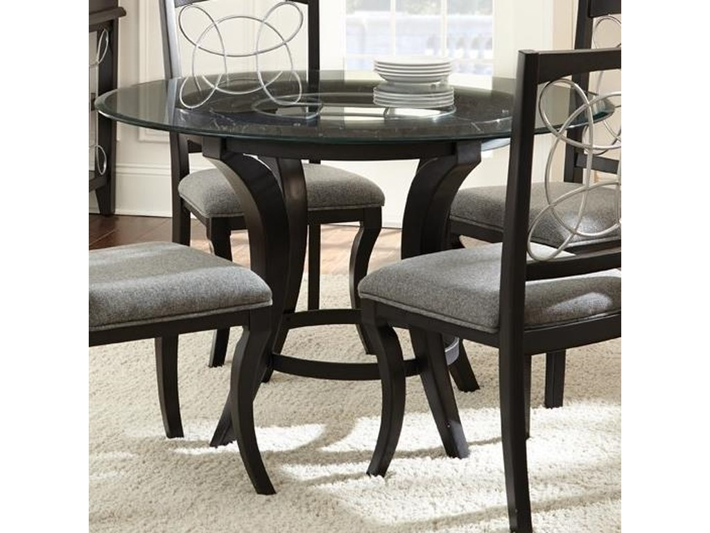 Cayman Round Glass Top Dining Table