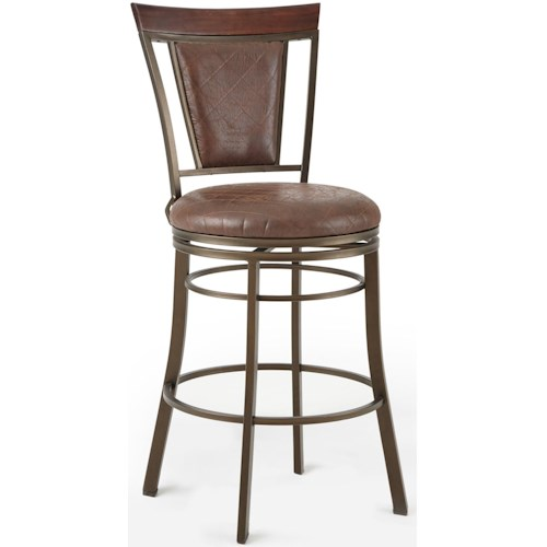 Steve Silver Cecile 360° Swivel Bar Chair with Flame Retardant Seat