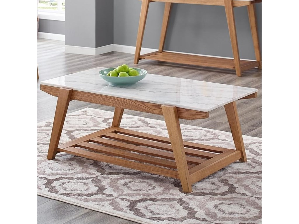 Morris Home CelesteWhite Marble Top Cocktail Table
