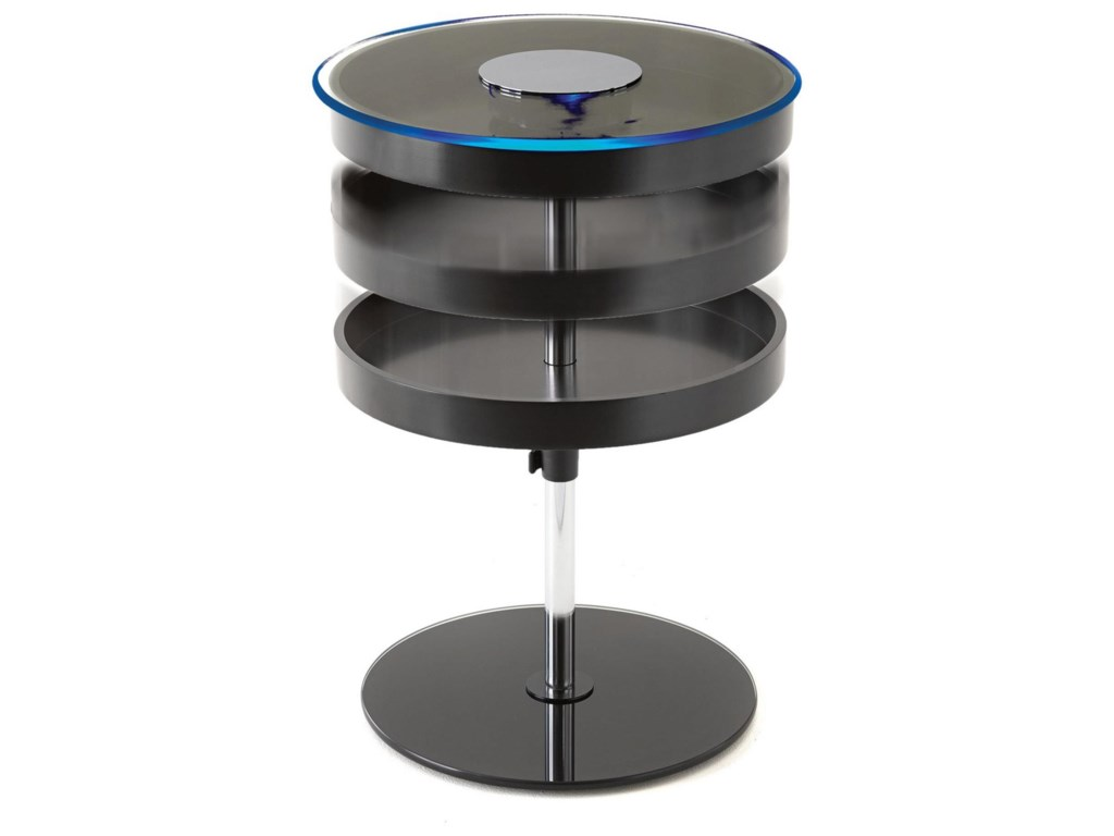 Steve Silver CharoLED End Table with Storage