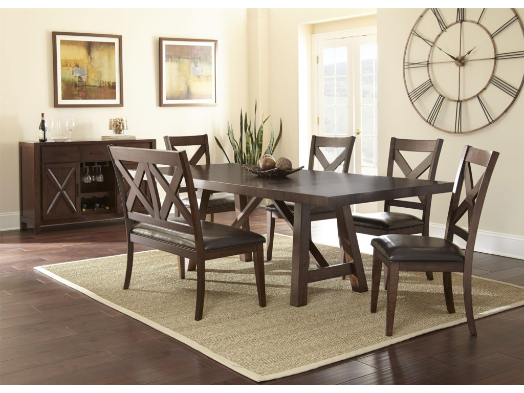 Steve Silver Clapton6 Piece Dining Set with Bench