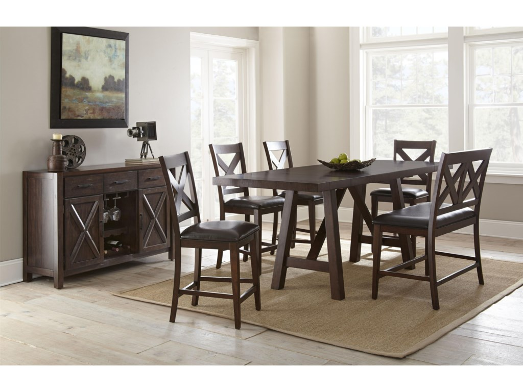 Steve Silver Clapton6 Piece Counter Dining Set with Bench