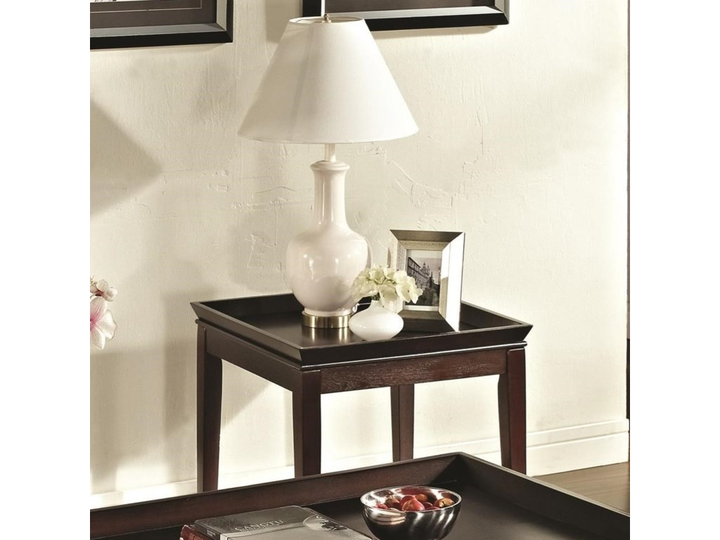 Clemson transitional square end table