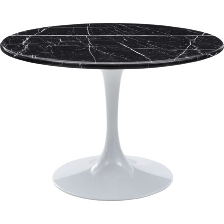 Table - Black Top & White Base