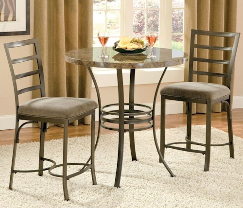 Steve Silver Collison Counter Height Table with Chairs