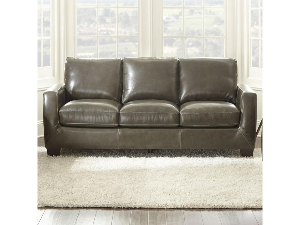 Vendor 3985 Coltrane CT900S Contemporary Leather Match Sofa | Becker ...