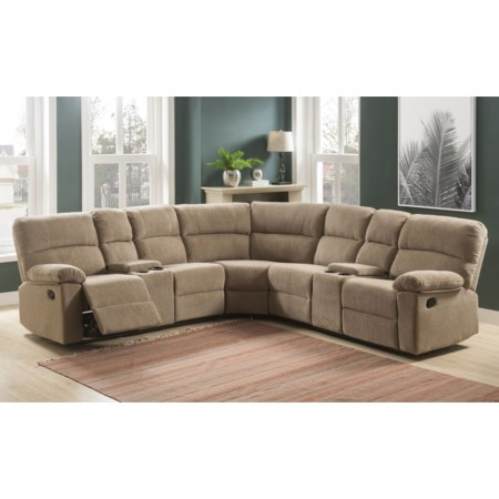 4 Seat Reclining Sectional Sofa