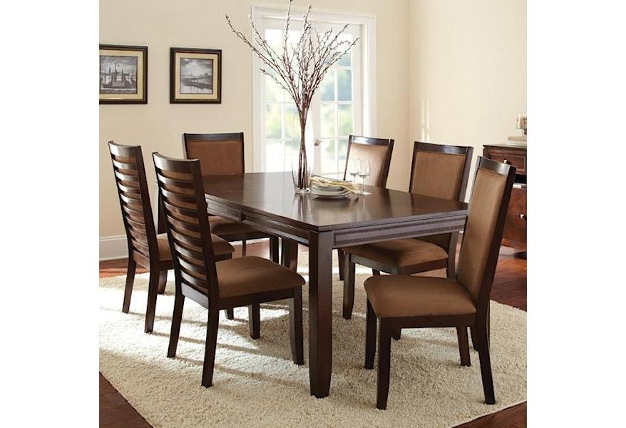 Dark Brown Rectangular Dining Table