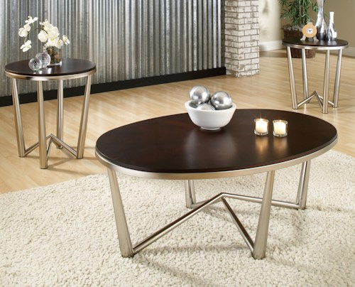Steve Silver Cosmo  3 Pack Contemporary Occasional Table Set