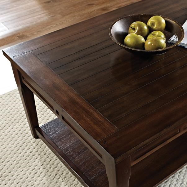 View of Table Top with Planking Detail