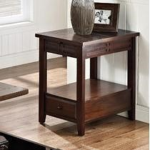 Steve Silver Crestline Chairside End Table with Drawer