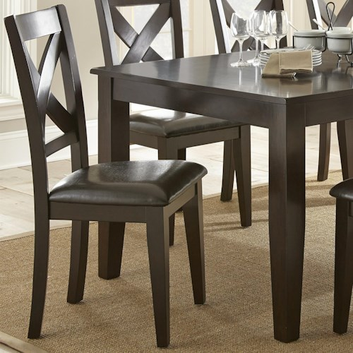 Steve Silver Crosspointe Upholstered Side Chair with X Back