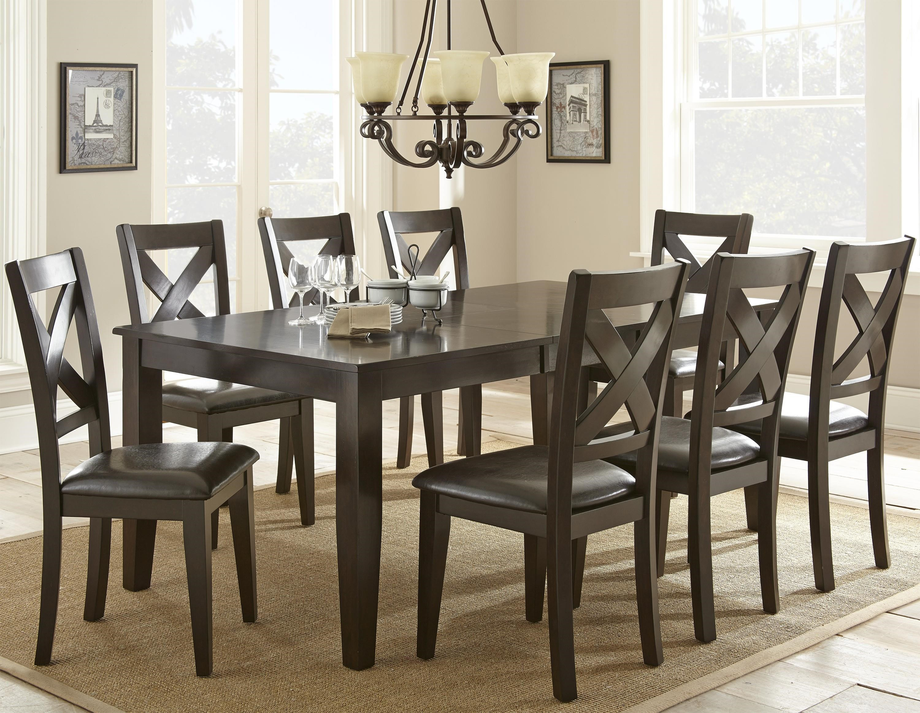 Steve Silver Crosspointe 9 Piece Dining Set With 18