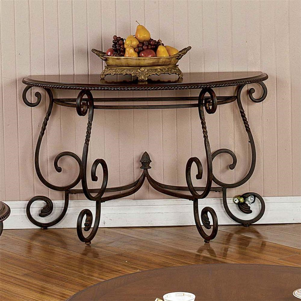 Traditional Scrolled Base Sofa Table