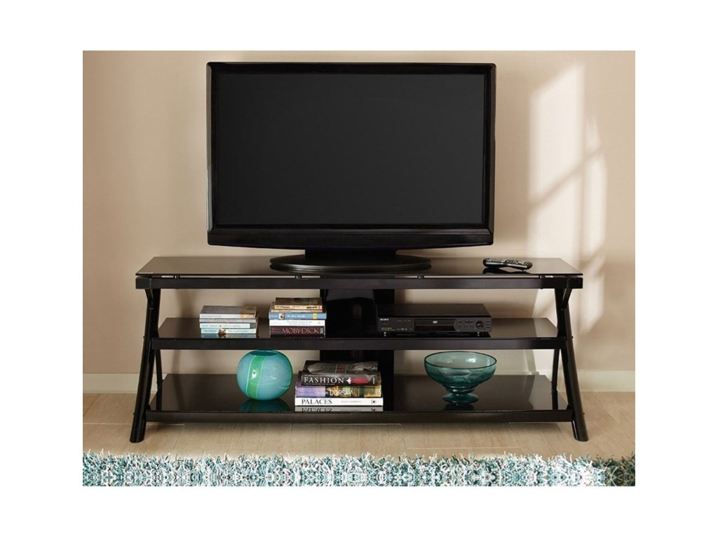 Steve Silver CyndiGlass Top Television Stand