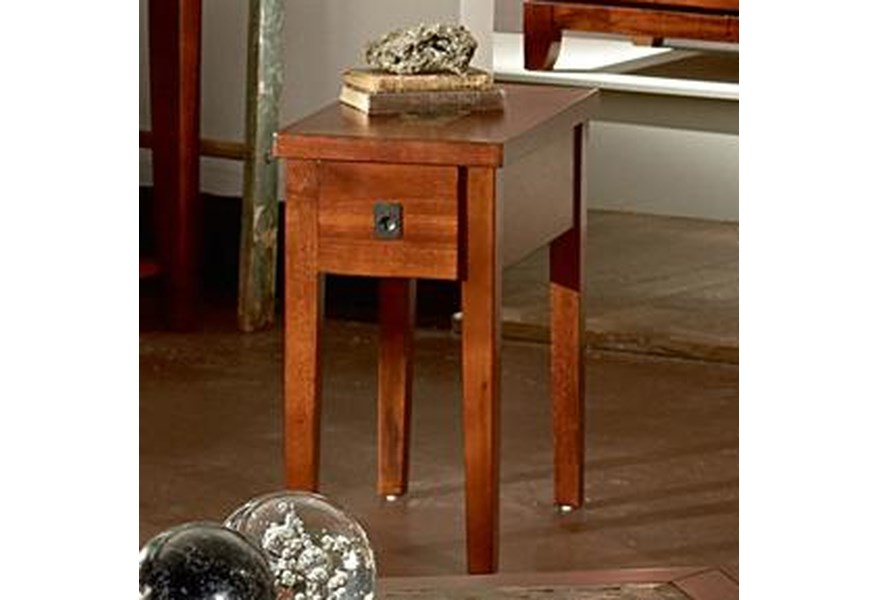 Steve Silver Davenport Transitional Chairside End Table With Slate