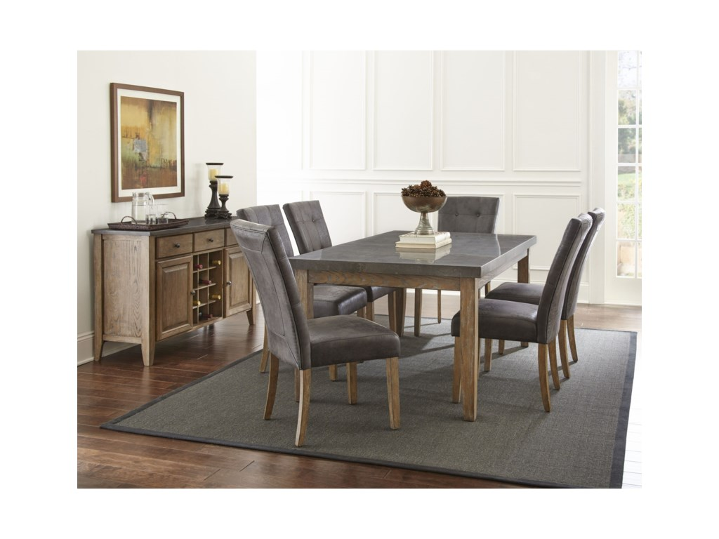 Steve Silver Debby7 Piece Table and Chair Set