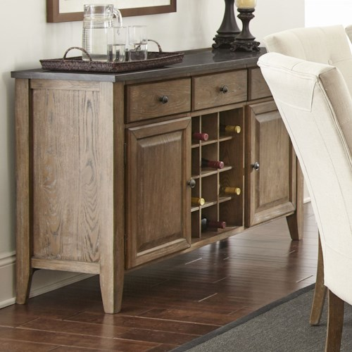 Steve Silver Debby Transitional Server with Wine Bottle Storage