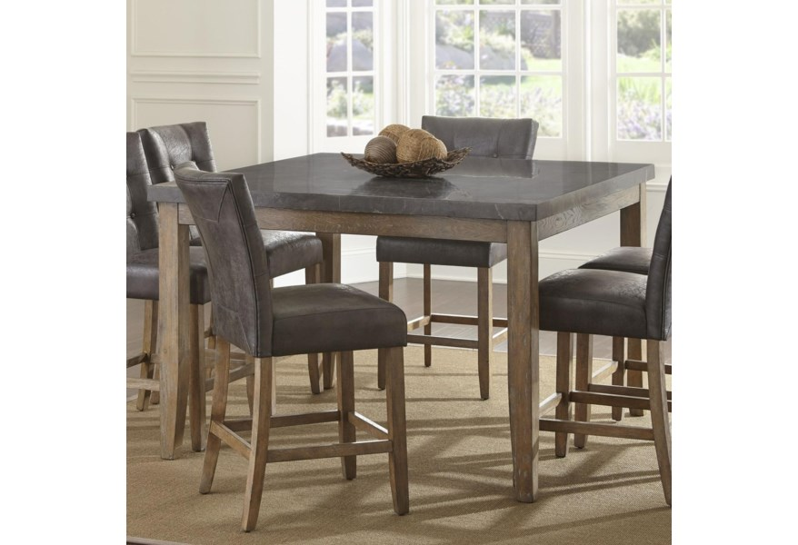 Steve Silver Debby Transitional Square Counter Height Dining ...