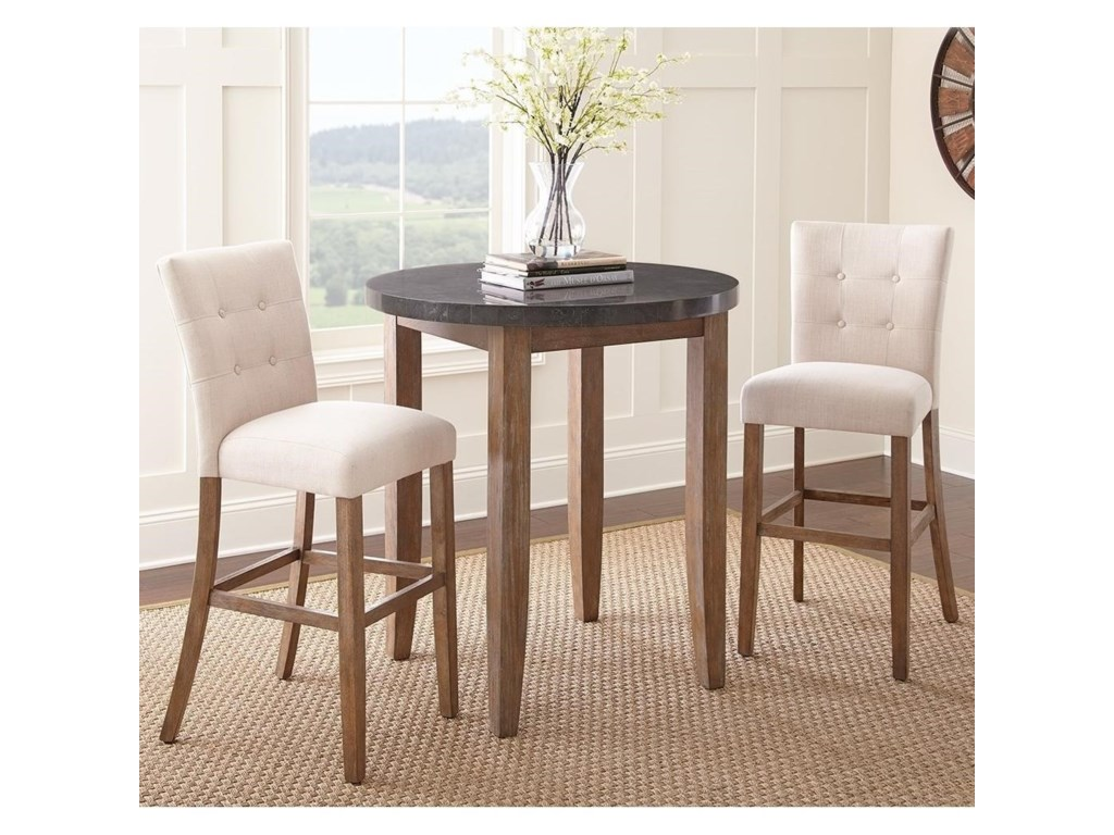 Steve Silver Debby3 Piece Bar Height Dining Set