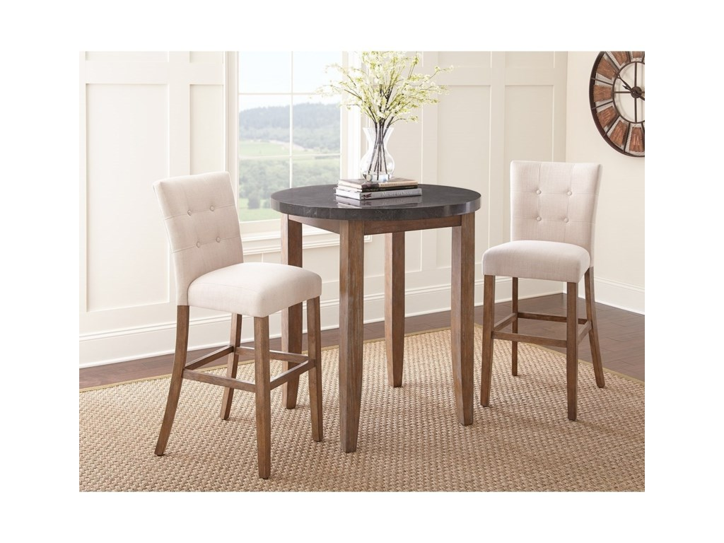 Morris Home DebbyBluestone Bar Table