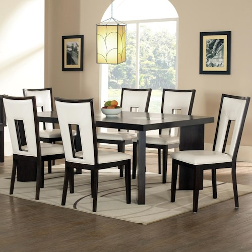 Steve Silver Delano 7-Piece Contemporary Dining Table and Chair Set