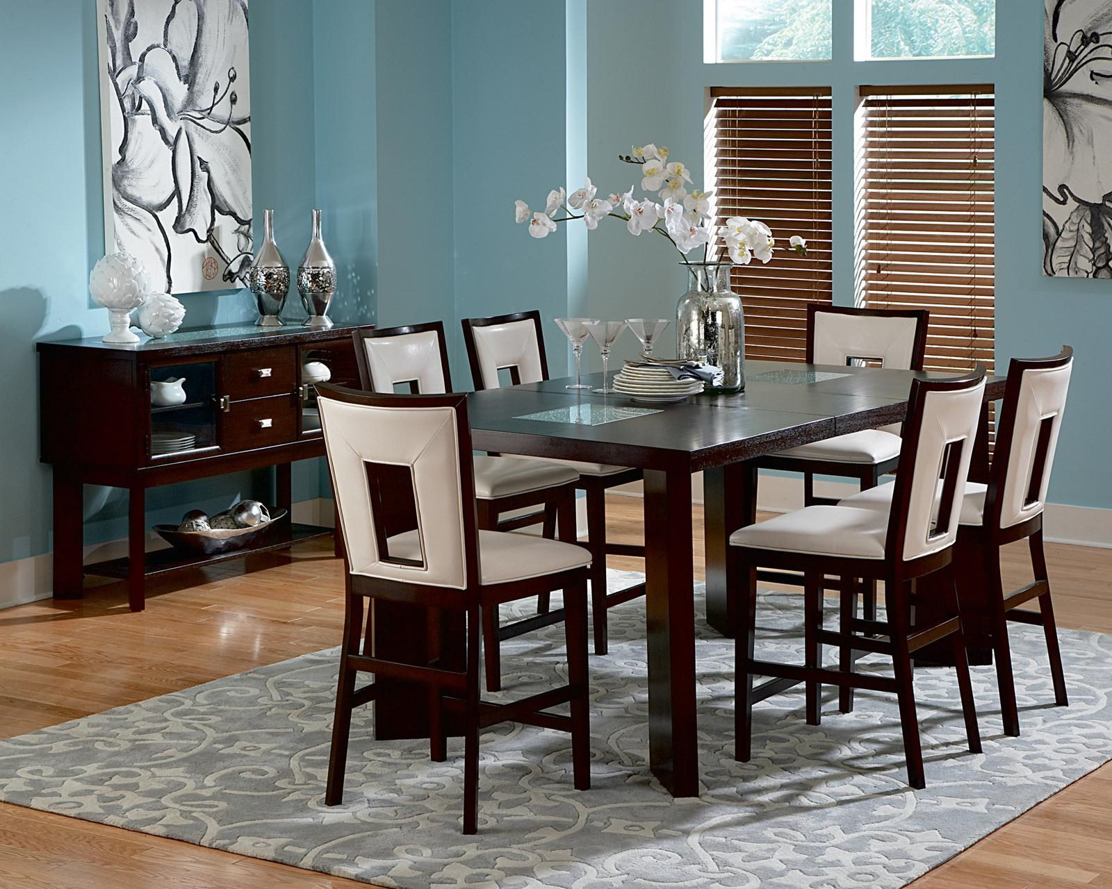 Steve Silver Delano 7 Piece Contemporary Counter Height Table U0026 Side Chair  Set