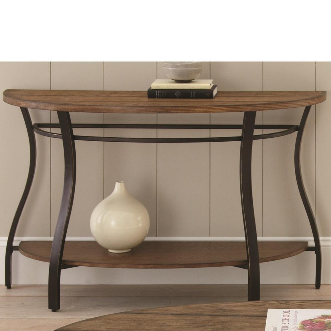 Transitional Sofa Table with Bottom Shelf