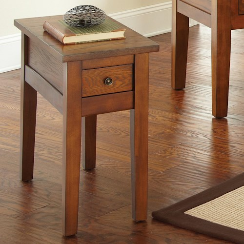 Steve Silver Desoto Chairside End Table with Drawer