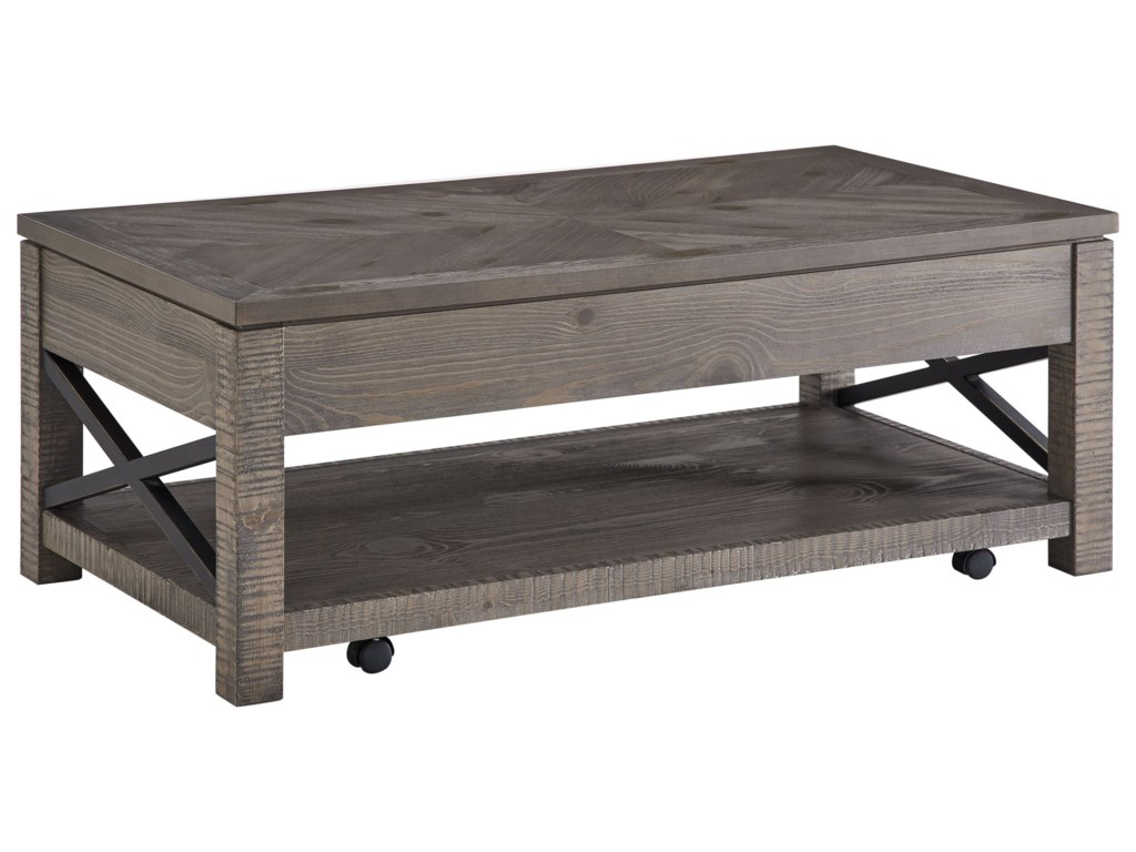 Steve Silver Dexter Rustic Lift Top Cocktail Table Wayside
