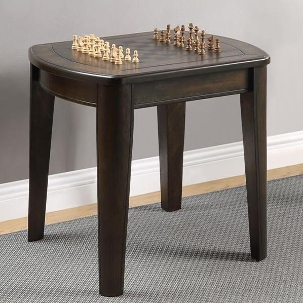 Chess / Checkerboard End Table with Reversible Top