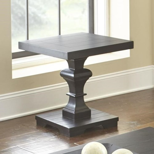Steve Silver Dory Square End Table with Plank Top