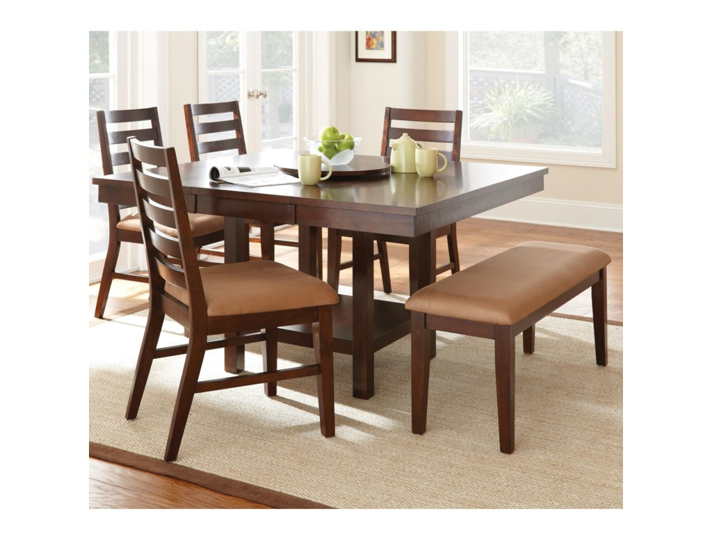 Steve Silver Eden6 Piece Dining Set with Bench