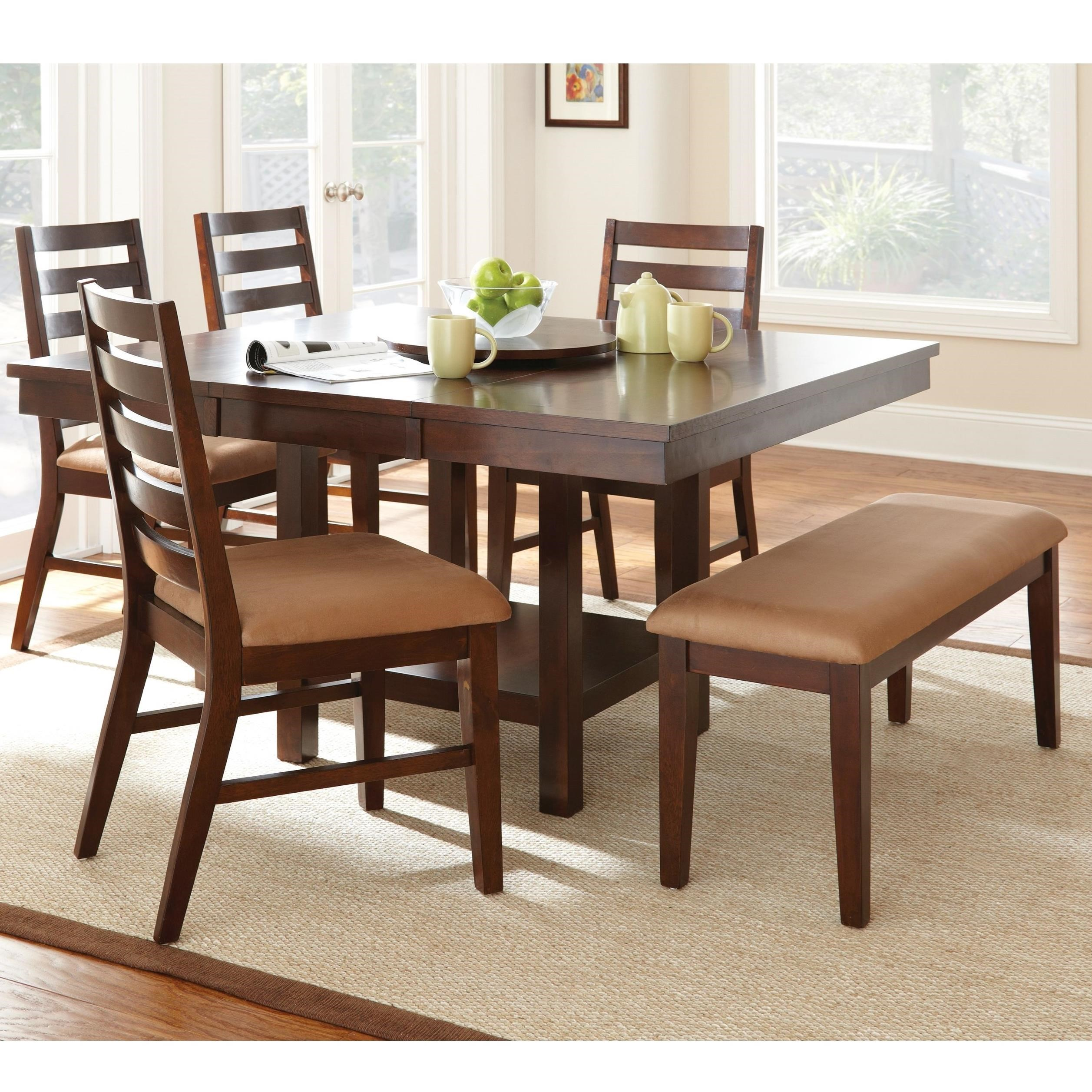 Steve Silver Eden 6 Piece Dining Set With Bench